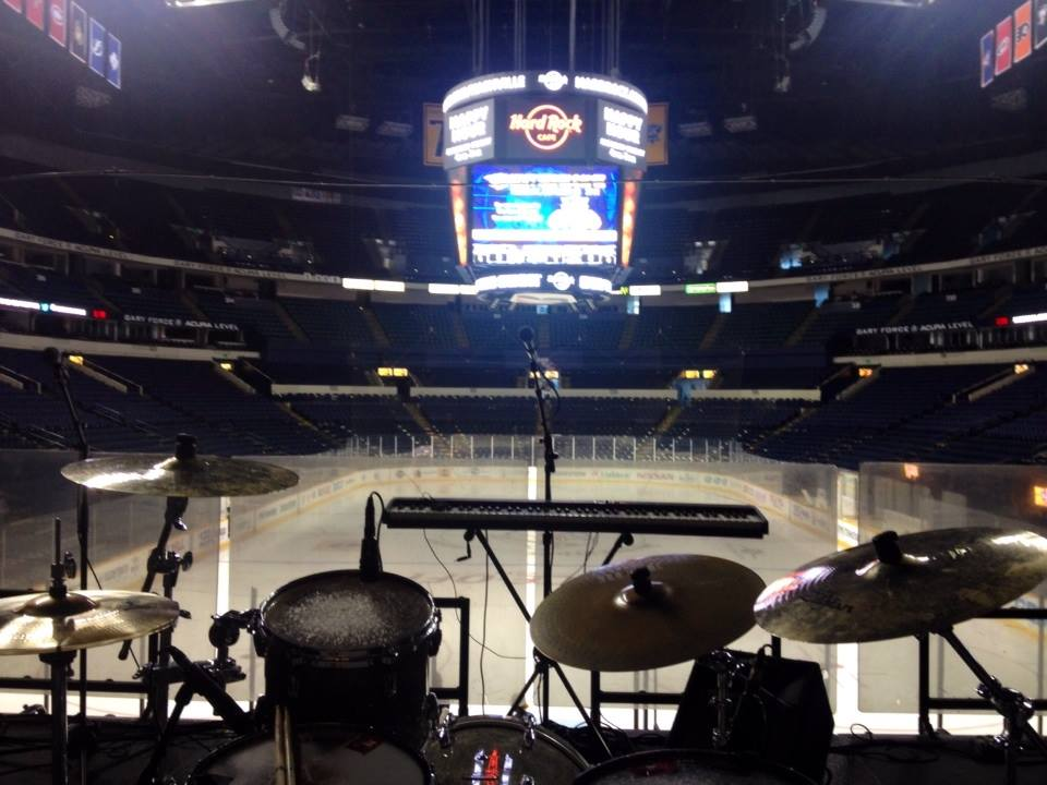 Bridgestone Arena sound check